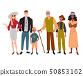 Group of diverse people mixed age standing together. 50853162