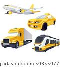 Vector Transport logistics and transportation. Global courier delivery services. Engraved ink art. 50855077