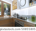 Modern kitchen in the dining room Contemporary 50855805