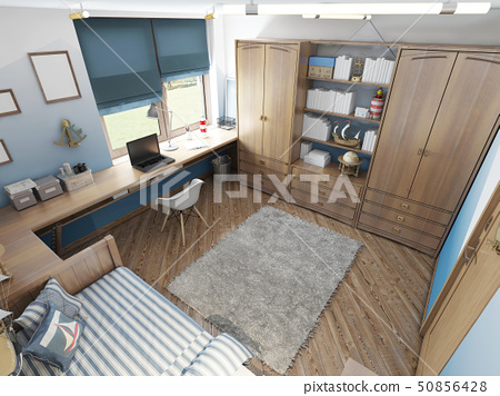 Modern children's room for a teenager in a 50856428