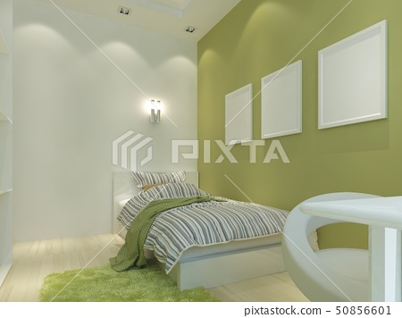 Modern children's room with false ceiling and 50856601