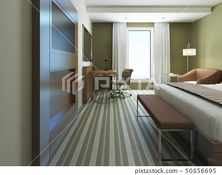 Large bedroom in minimalist style 50856695