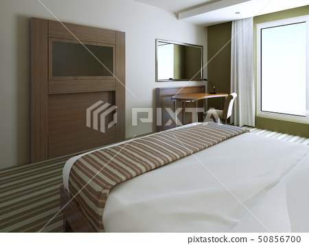 Minimalist style bedroom - Stock Illustration [50856700] - PIXTA