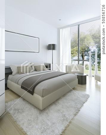 Minimalist style in interior of bedroom 50856716