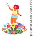 女人 女性 花朵 50856804