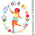 女人 女性 花朵 50856806
