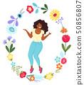 女人 女性 花朵 50856807