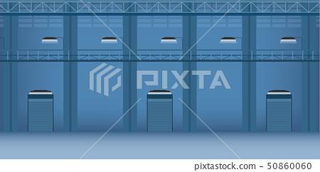 Factory interior with shutter door 50860060