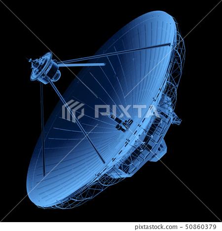 X-ray satellite dish with antenna 50860379