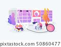 Nursing home concept vector illustration 50860477