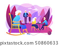 Activities for seniors concept vector illustration 50860633