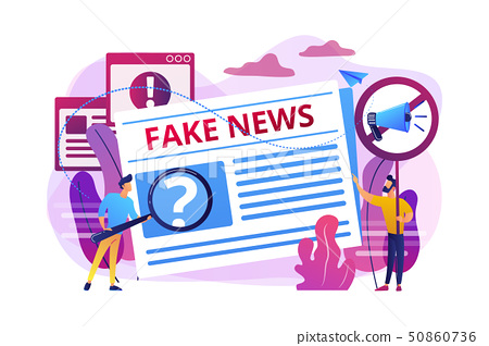 Fake news concept vector illustration 50860736