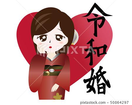 Japanese characters and kimonos 50864297