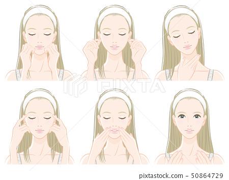 做護膚的婦女的例證 50864729