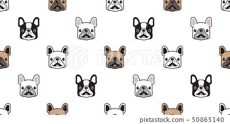 dog seamless pattern vector french bulldog smile 50865140