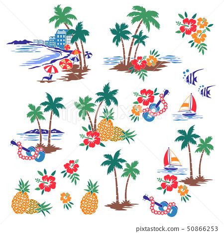 海灘的插圖素材, 50866253
