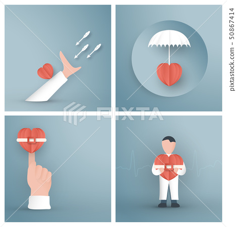 Vector illustration in concept of health. 50867414