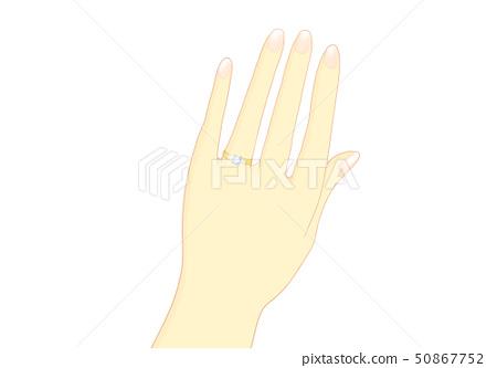 戒指訂婚戒指金 50867752