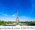 Eiffel Tower seen from the Paris-Cyillon Palace 50870764