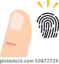 指紋和手指 50872726