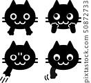 貓臉和手圖標集 50872733