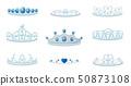 Set crowns image. Vector illustration on white background. 50873108