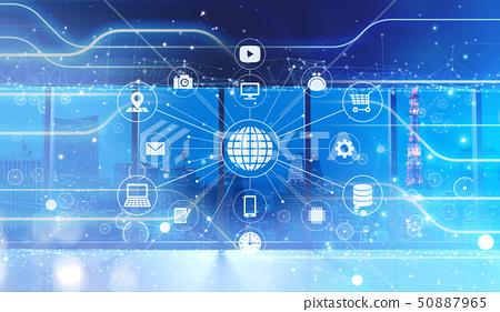 networking, technology, digital 50887965