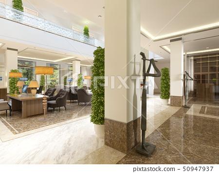 Modern design lobby with reception. 50947937