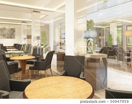 Luxury design breakfastroom in the building of the 50947959