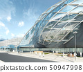 Futuristic modern design mega mall glass and 50947998