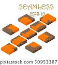 Isometric vector lava cube seamless 50953387