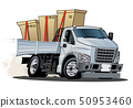 Cartoon delivery or cargo truck isolated on white  50953460