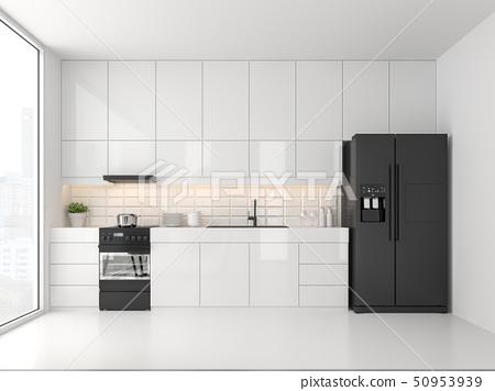 Minimal style kitchen 3d render 50953939