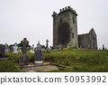 Grave markers and ancient stones from Templar Church in Templetown, Ireland 50953992