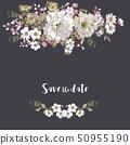 美麗的玫瑰花和牡丹花 50955190