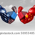 Economic Trade War Concept 50955485