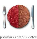 Vegan Burger And Meat 50955920