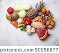 Pegan diet. Paleo and vegan products 50956877