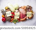Pegan diet. Paleo and vegan products 50956925