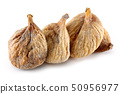 Dried figs isolated on white 50956977