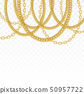 Gold chain isolated. Vector necklace 50957722