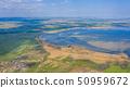 Aerial view of salt pans near Burgas. 50959672