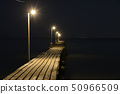 Late-night Haraoka Pier [Minami Boso City, Chiba Prefecture] Okamoto Pier 50966509
