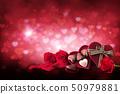 背景 巧克力 花朵 50979881