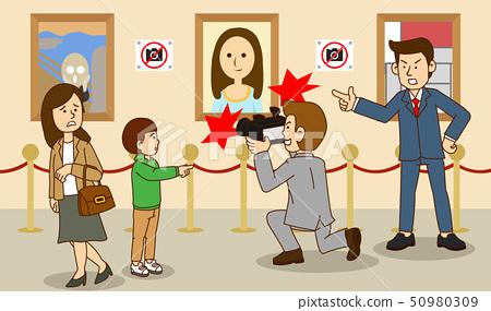 illustration of Public etiquette concept, how to behave in public places. 013 50980309