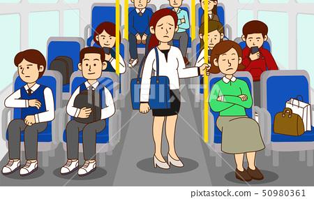 illustration of Public etiquette concept, how to behave in public places. 004 50980361