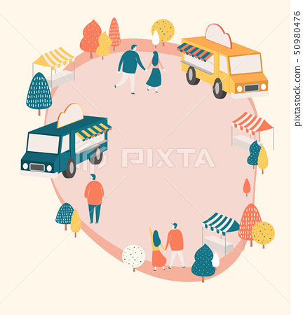 An outside festival event with entertainment in spring time vector illustration 006 50980476