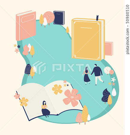 An outside festival event with entertainment in spring time vector illustration 004 50980510