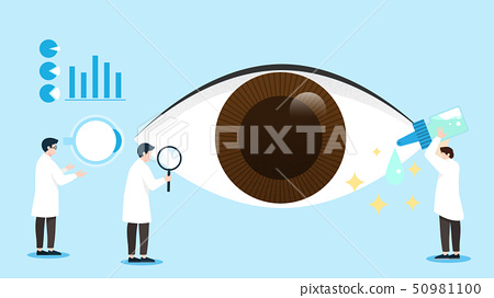 Concept of Physical and Life Research vector illustration 004 50981100