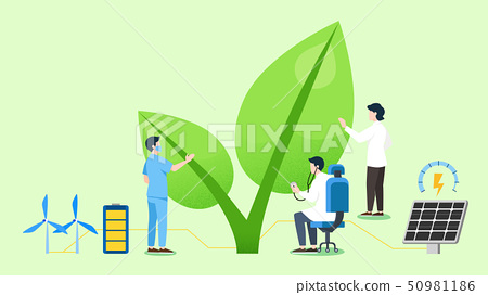 Concept of Physical and Life Research vector illustration 018 50981186